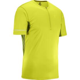 Salomon Agile Koszulka do biegania z krótkim rękawem Mężczyźni żółty